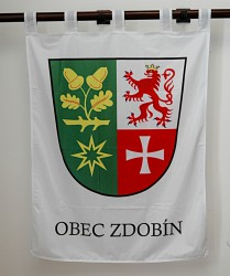 Wappen der Gemeinde Zdobín in großer Ausführung