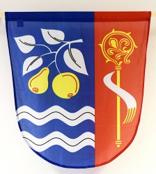 Bedrucktes Wappen in kleiner für Gemeinden, Städte