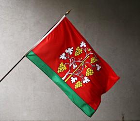 Flagge für den Außenbereich mit Gemeinde-, Stadtwappen