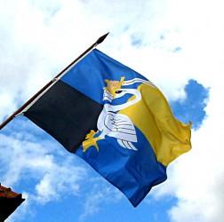 Gemeindeflagge für Außenstange