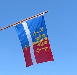 Bedruckte Flaggen für den Außenbereich für Gemeinden, Städte und Marktflecken