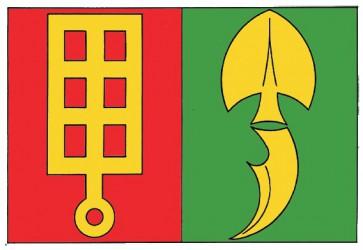 Flaggenentwurf für die Gemeinde Horní Štěpánov (Bezirk Prostějov)
