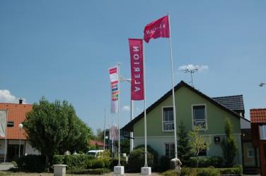 Flaggenmasten für bedruckte Flaggen für den Außenbereich