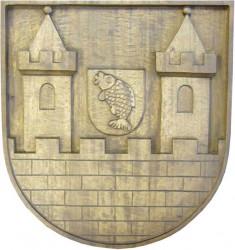 Handgeschnitztes Wappen