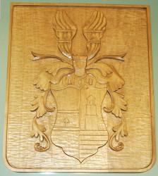 Geschnitztes bürgerliches Wappen