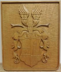 Geschnitztes persönliches Wappen