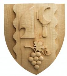 Geschnitztes Wappen für Gemeinden, Städte, Marktflecken