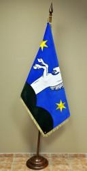 Bestickte festliche Flagge der Gemeinde Jaroměřice