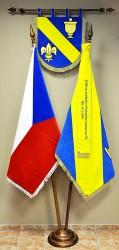 Besticktes Wappen, Flagge, Band, Samtflagge der Tschechischen Republik, Auftragsarbeit für die Gemeinde
