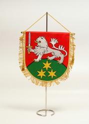 Bestickte Tischflaggen und -ständer
