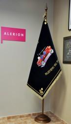 Bestickte Feuerwehrfahne des Freiwilligen Feuerwehrvereins (SDH) Dolní Libina