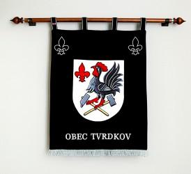 Besticktes Wappen in großer Ausführung der Gemeinde Tvrdkov
