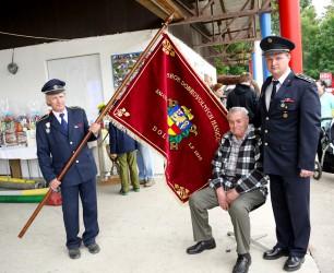 Präsentation der Fahne des Freiwilligen Feuerwehrvereins (SDH) Dolní Libina