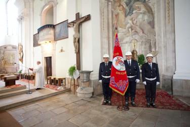 Feierliche Segnung der Replik von der historischen Fahne des Freiwilligen Feuerwehrvereins Dačice