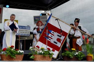 Segnung der Gemeindeflagge der Gemeinde Kostelec na Hané