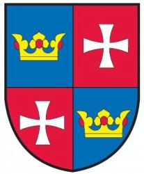Reparatur des historischen Wappens der Gemeinde Chvalšiny