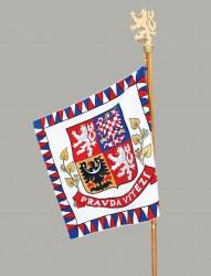 Vyšívaná vlajka prezidenta České republiky
