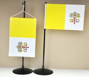Tištěná stolní vlaječka Vatikán