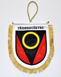 Vyšívaná stolní vlaječka obce Třebnouševes