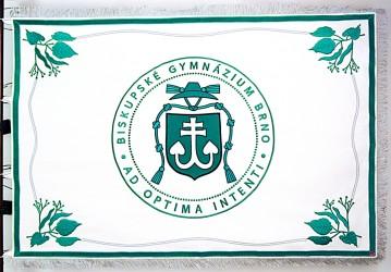 Vyšívaný prapor pro Biskupské gymnázium Brno