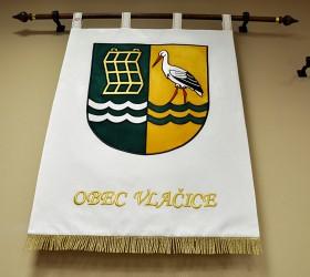 Vyšívaný znak ve velkém provedení obec Vlačice