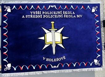 Vyšívaný prapor policejní škola Holešov