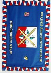 Slavnostní prapor - Krajské ředitelství policie Jihočeského kraje
