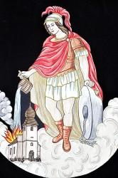 Výšivka svatého Floriána, prapor SDH Sirákov