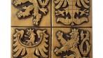 Velký státní znak České republiky patinovaný sádrový
