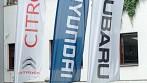 Zakázková výroba beach vlajek s logem automobilky