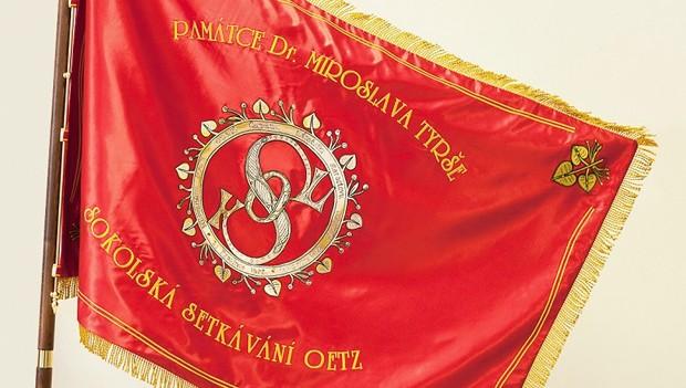 Sokolský prapor Pankrác pro Oetz
